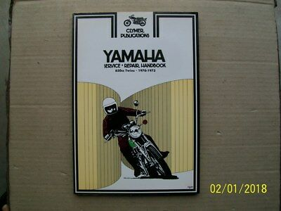 New Clymer workshop manual for YAMAHA 650 twins, 1970-73, XS1, XS2, TX650,  M403