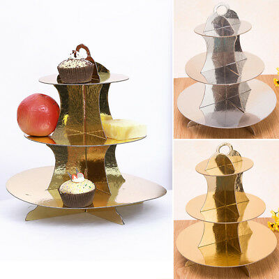 3-Tier Cupcake Cake Stand For Wedding Birthday Party Food / Decoration Baubles