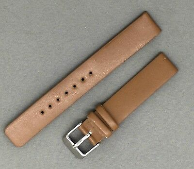 Tan Brown Faux Leather Watch Strap Sizes From 12mm to 34mm.