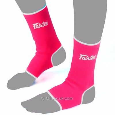 Fairtex Ankle Supports Anklets AS1 Pink White Muay Thai Boxing MMA Kickboxing