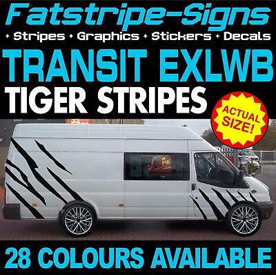 ef5975fc41 Ford Transit Exlwb Tiger Stripes Graphics Stickers Decals St Camper Jumbo  Xlwb