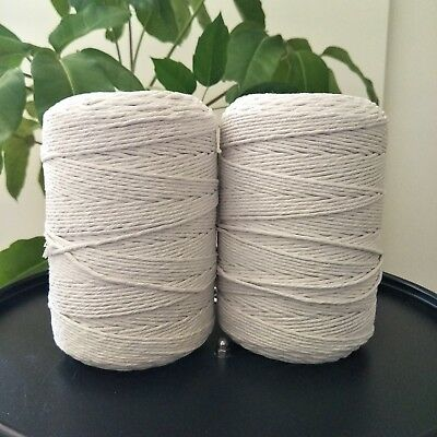 macrame cord 3mm 2kg 840 m  string rope cotton diy macrame white natural crochet