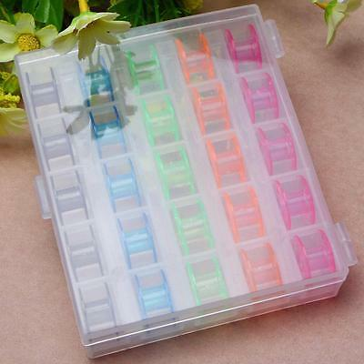 25 Plastic Colour Random Home Bobbins for PFAFF Sewing Machines Mother's Gift @T