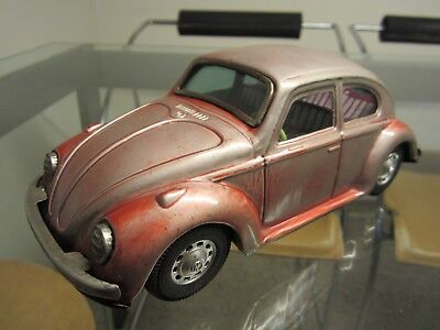 Vintage Tin Toy Car Vw Beetle Sedan Bandai Battery Operated. Made In Japan