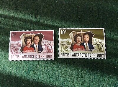 British Antarctic Territory 25th Wedding Anniversary Set SG 42/3 U/M MNH
