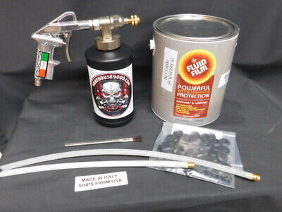 1 Gallon Of Fluid Film W/The Pro Gun, 1 Straight & 1 360* Hose w/ 1~empty Bottle
