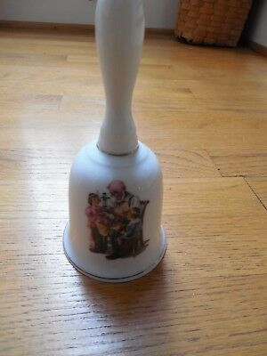 """1986 Norman Rockwell Porcelain BELL """"THE Toy Maker"""", MINT"""