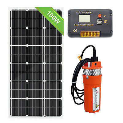 DC12V 100W Solar Panels Kit Solar Deep Well Water Pump Solar Power f Garden/Farm