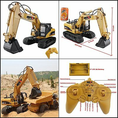 RC Excavator Crawler Truck Wireless Digger Toy Electronic Vehicle With Lights
