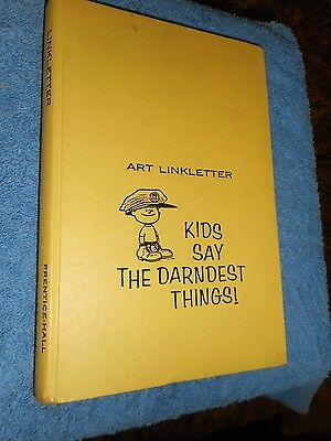 KIDS SAY THE DARNDEST THINGS ART LINKLETTER 1959 1st Edition HC Charles Schultz