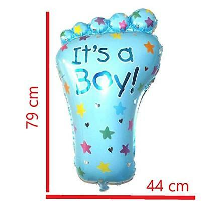 Luftballon Folienballon - Baby Shower Babyparty Deko Taufe Helium Boy Junge Blau