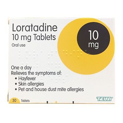 Loratadine Dust Mite, Pet Allergy, Itchy Skin & Hayfever Tablets 30 - Multibuy
