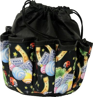 4db3392ac 10 POCKET BINGO Bag With Lucky Charms Print (Black) *made In The Usa ...