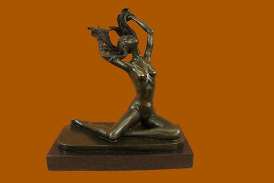 Nude Free Girl Bronze Sculpture Figurine Figure Home Mirval Art Decor Original