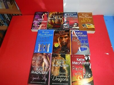 Lot  Of 10 Katie Macalister  Paranormal Novels