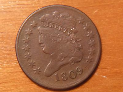 1809 Classic Head Half Cent, VF Condition...SKU#12846
