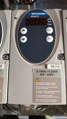 Telemecanique Schneider Electric ALTIVAR 31  0.18KW  0.25HP Inverter Speed Drive