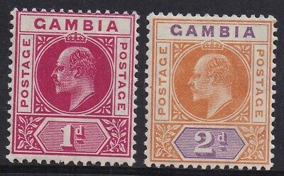 Gambia 1904 Kevii Keytype 1D And 2D Wmk Multi Crown Ca