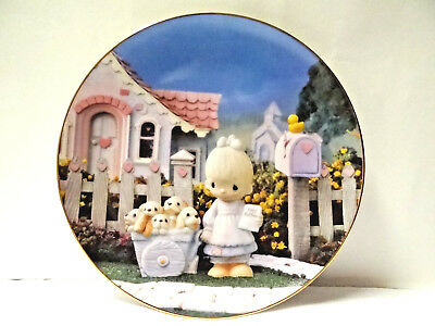"""Precious Moments Plate """"God Loveth a Cheerful Giver"""" 1993 Hamilton Collection"""