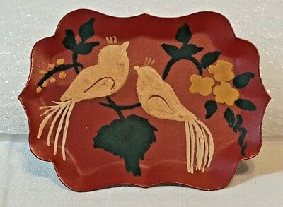 Vintage Hand Painted Tin Brooch/Pin