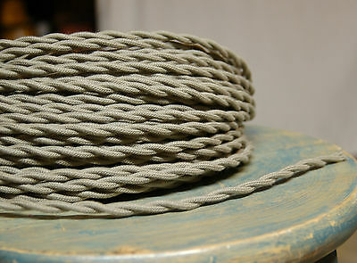 Clay Color Twisted Cloth Covered Wire, Vintage Style Lamp Cord, Flex Power Cable