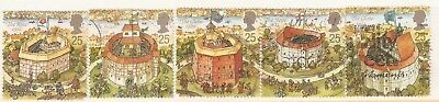 Collectible Great Britain 1995 USED Stamps:Shakespeare's New Globe Theatre Opens