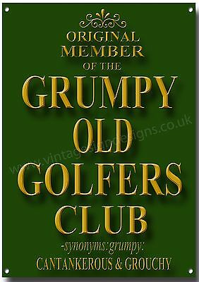 Original MEMBER OF THE GRUMPY OLD GOLFER Verein Metall Schild, Humor, Retro