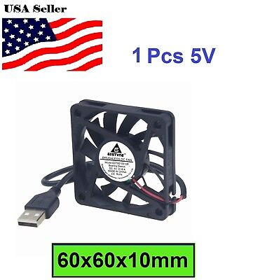 5V 0.18A USB Power 6cm 60mm 60x60x10mm Brushless Cooling Cooler Fan Quiet Silent