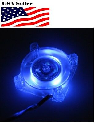 40mm 40x40x10mm DC12V 3P LED Transparent Crystal Blue Brushless Cooling Fan