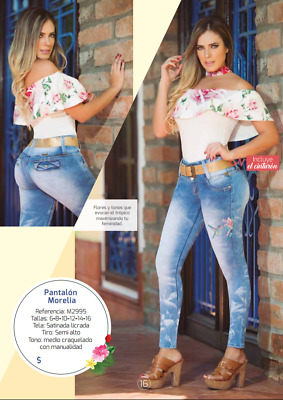 JEANS COLOMBIANO M2995,Authentic Colombian, Push Up Jeans, Jean Levanta Cola