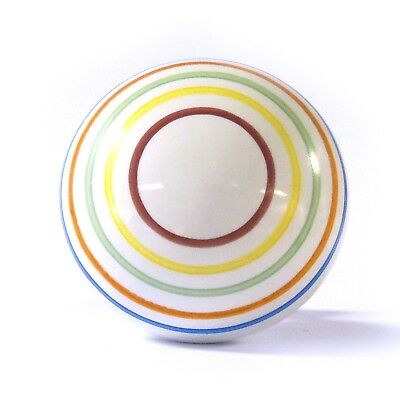 Large Multicolour Candy Striped Ceramic Cupboard Door Knob Coloured Pull Handle