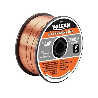 0.030 In. ER70S-6 MIG Solid Welding Wire, 2 Lb. Roll