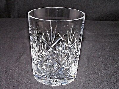 """Waterford Crystal """"eve"""" Double Old Fashioned Tumbler Glass 4 3/8""""t Vgc"""