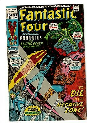 Fantastic Four #109, VG 4.0, Thing, Mr. Fantastic, Human Torch, Invisible Girl