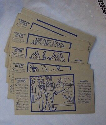 Vtg SHREDDED WHEAT Advertising Cards PICTURE STORIES FOR BOYS AND GIRLS ~ Lot/18