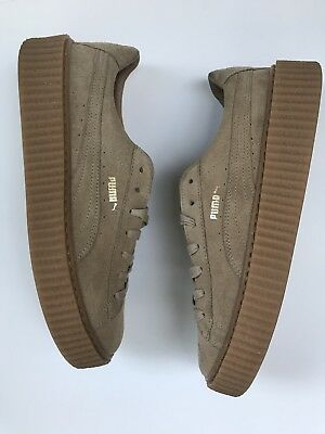 huge discount 7bbae cc95f PUMA FENTY BY RIHANNA CREEPERS SUEDE OATMEAL MEN'S SIZE 11 TAN Travis Scott