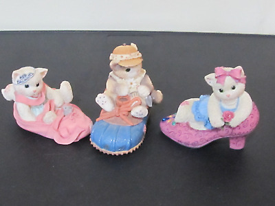 Lot of 3 Calico Kittens Shoes 314471 314501 314544 1997 Every Step Comfortable