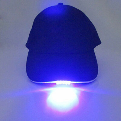 Adjustable Baseball Cap with LED-Light Hat Fishing Camping Outdoor Hiking Hot