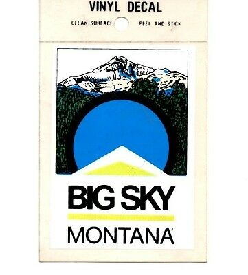 Lot of 12 Big Sky Montana Souvenir Luggage Decals Stickers - New - Free S&H