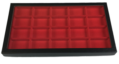 20 Compartment Riker Display Case for Zippo Lighters Jewelry Collectibles & More