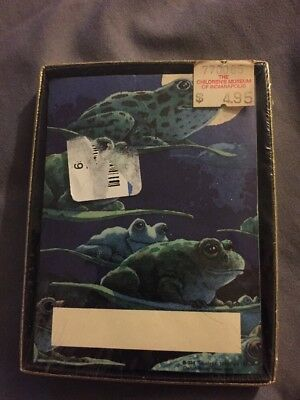 Vintage 1991 ANTIOCH Self Stick BOOKPLATES 30pcs w/ Box ILLUSTRATED Frogs NEW