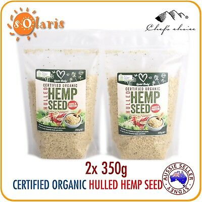 700g Organic Hemp Seeds Australian ACO Certified Hulled Gluten Free Superfood