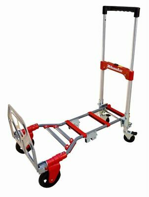 Milwaukee Folding Convertible Hand Truck Dolly Cart, 300 lb Capacity