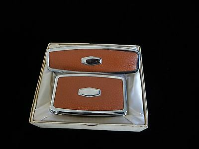 Vintage Boxed Mens Essaness Brush Set