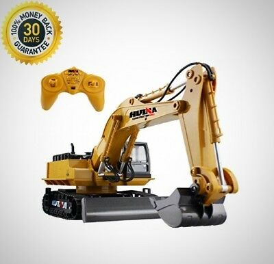 Remote Control Excavator RC Tractor Bulldozer Crawler Truck Toy Metal Digger Car