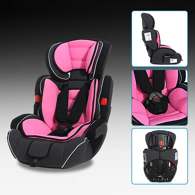 Pink Convertible Car Seat Infant Safety Children Baby Booster Group 1/2/3 9-36kg