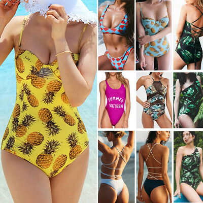 Women One-Piece Swimsuit Beachwear Swimwear Push-up Monokini Bikini Bathing
