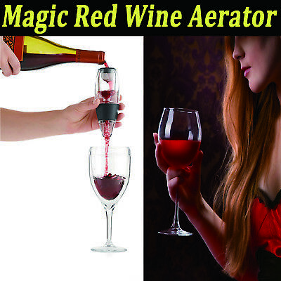 2017 Magic Decanter Essential Red Wine Aerator 2pcs Sediment Filter Pouch Tool