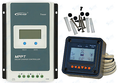 US STOCK Tracer3210A 30A MPPT Solar Charge Battery Controller +MT50 US$112