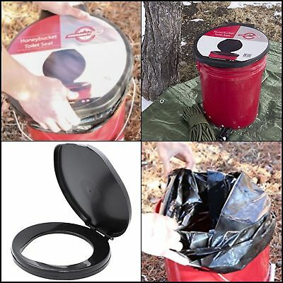 ER Luggable Loo Seat Potty Portable Cover Bucket Toilet Emergency Camping Travel